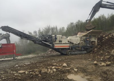2008 Metso Lokotrack LT 106 Mobile Rock Crushing Plant